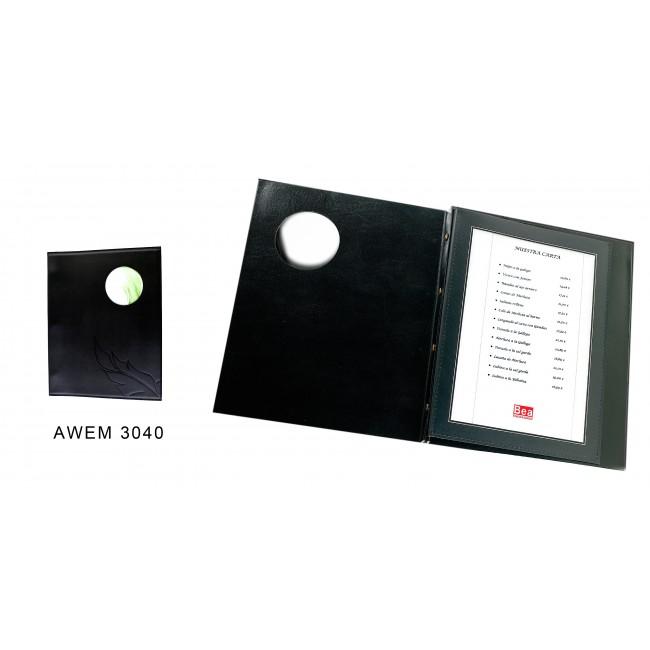 91 - AWEM3040 - Ementa especial Com circulo na capa Exterior +PORTFOLIO