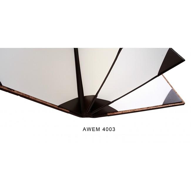 10 - AWEM4003-2F - Ementa Transversal A4 Bicolor de cantos cozidos e topada