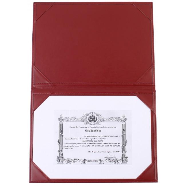 75 - AWPD2056 - Porta-Diplomas Senasa com Cantos cosidos