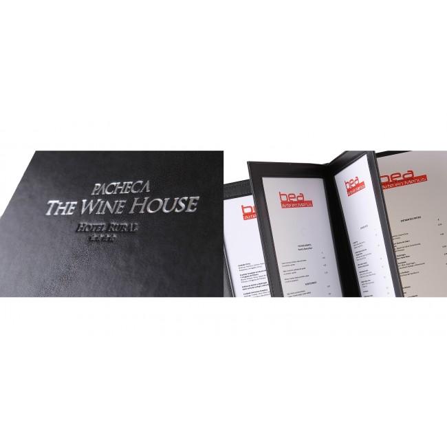 149 - AWEM3072 -18x24 Carta de Vinhos Quinta da Pacheca Wine House Capa Dura Entrada Nova referencia Site