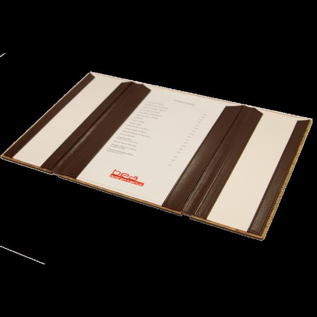9 - AWEM4009 - Ementa tripla Bicolor livro de cheques