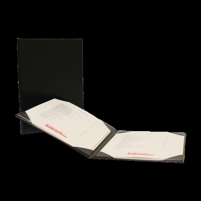 98 - AWEM6634 - Ementa quadrada A4 de cantos colados interiores