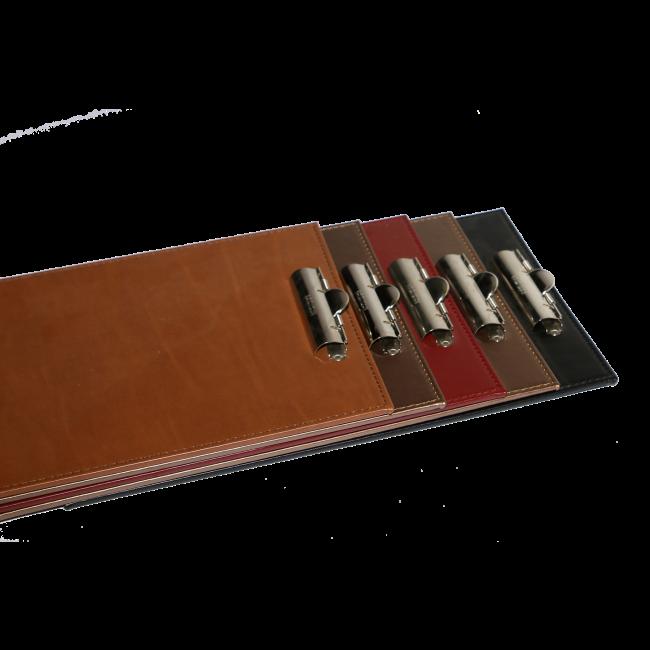 152 - AWEM6650 - 16,5x25 Tabua de Ementa de pele com mola para suporte de ementes - Carta de Bar Entrada Nova REferencia Site