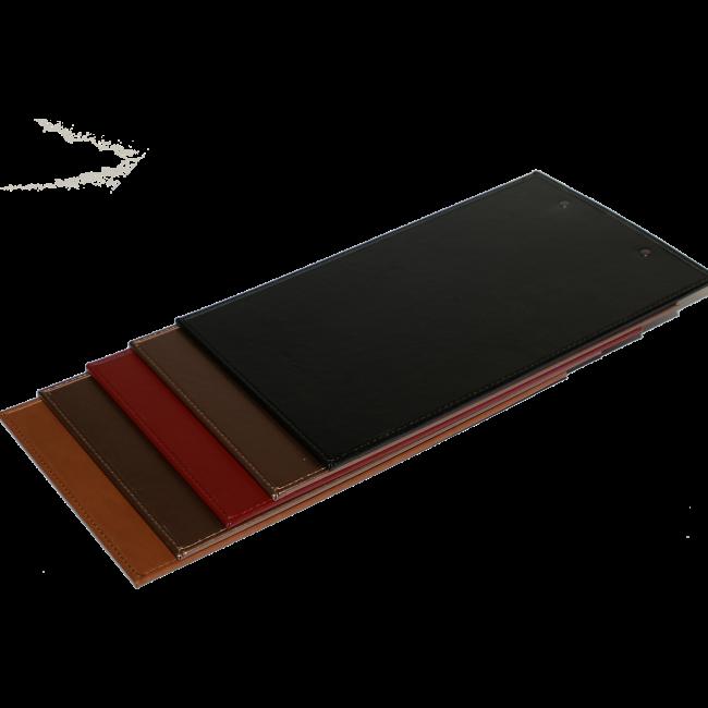 151 - AWEM6649 14x36  Tabua de Ementa de pele com mola para suporte de ementes - Carta de Bar Entrada Nova REferencia Site