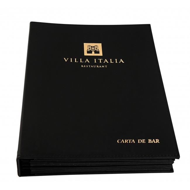 182 - AWEM118 - Capa dura Carta de Bar de Hotel Villa Italia Entrada Nova Referencia Site